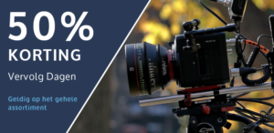 50% korting camera huren