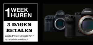 week korting camera huren nederland