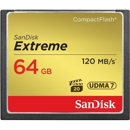 SanDisk Extreme 64GB 120MB/Sec Compact Flash Card huren
