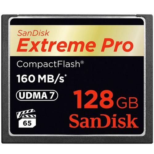 SanDisk 128GB Compact Flash Card Extreme Pro VPG65 160MB/s huren